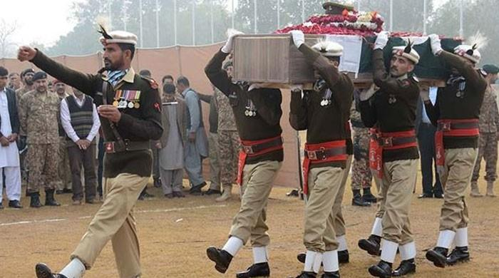 Shaheed Second Lt Abdul Moeed buried with full honours in Lahore