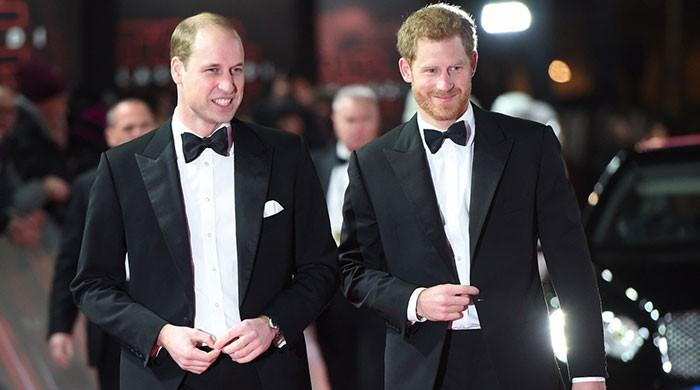 Princes William and Harry attend 'Star Wars' London premiere