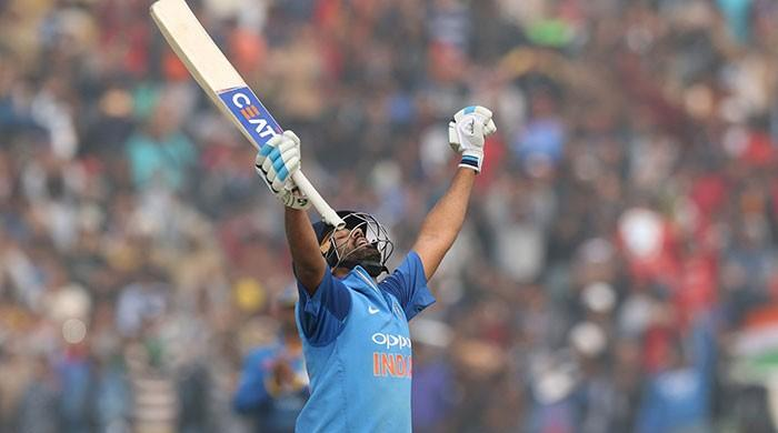 Rohit Sharma becomes first batsman to hit three double centuries
