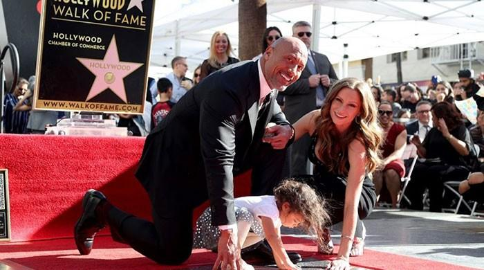 Dwayne 'The Rock' Johnson honoured with Hollywood star