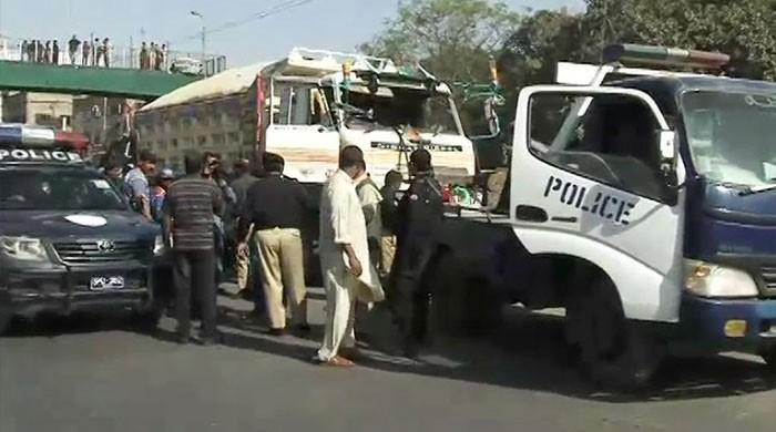 Speeding truck kills one, injures eight