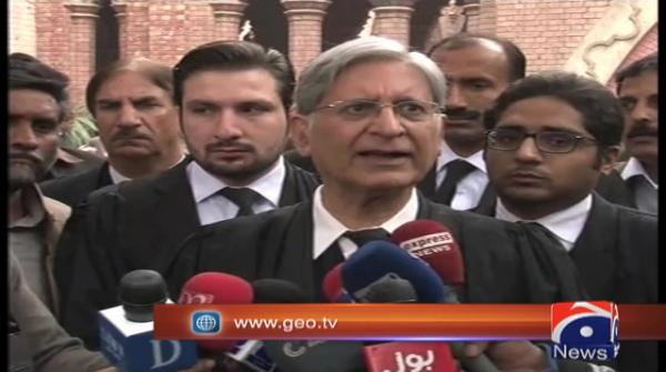 PML-N habitual of pointing fingers; elections to be held on time, says Aitzaz Ahsan