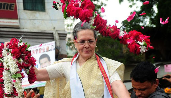 Congress leader Sonia Gandhi