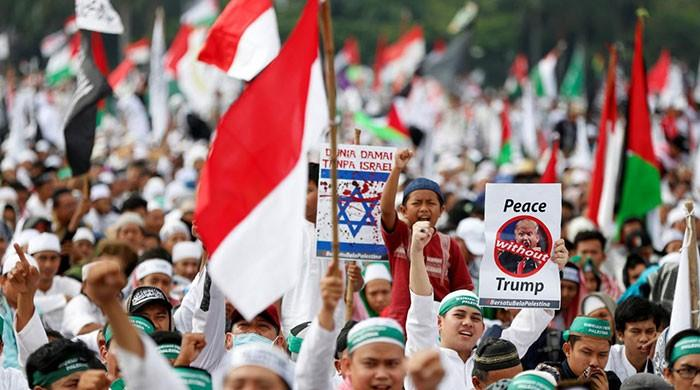 Tens of thousands of Indonesians rally over Trump's Jerusalem stance