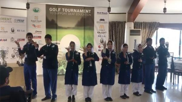 Students of Deaf Reach School perform of Nusrat Fateh Ali Khan's 'Wohe Khuda Hai' in Pakistan Sign Language