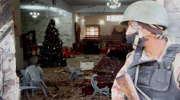 Attacked church situated in Quetta's high-security zone