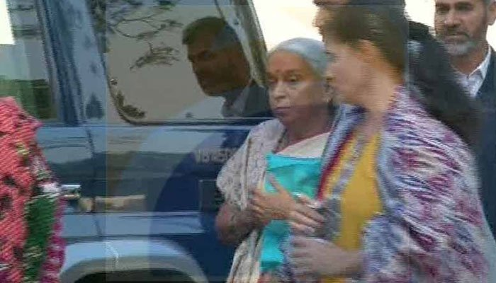 Kulbhushan Jadhav's mother and wife arrive at Foreign Office