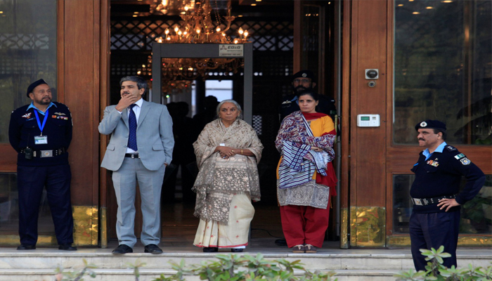 Jadhav's mother, wife meet Sushma Swaraj upon return from Pakistan