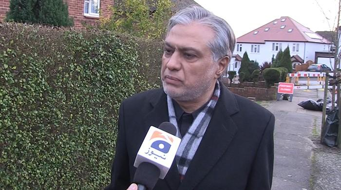 Ishaq Dar claims his NAB case part of vindictive campaign against Nawaz Sharif