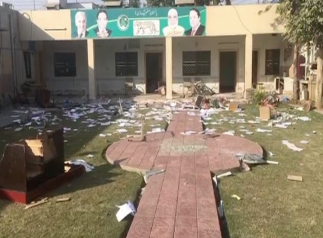 The ransacked dera of PML-N MPA Naeem Safdar