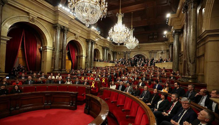 Catalonia Parliament Holding First Meeting Since Elections