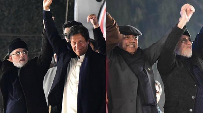 Mall Road protest: Former rivals join Qadri in bid to 'send Sharifs home'