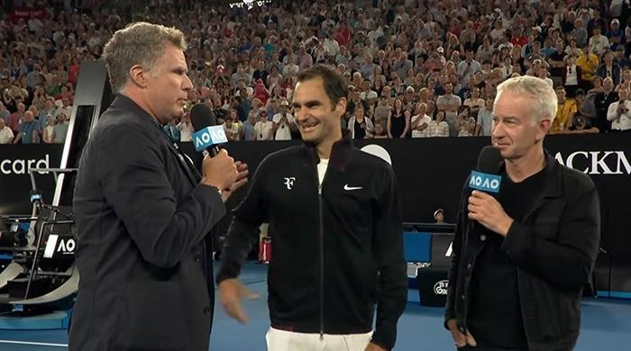 WATCH: Will Ferrell's bizarre interview of Roger Federer