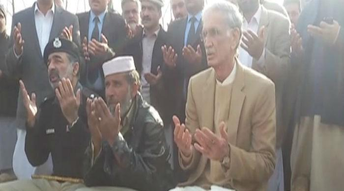 KP CM visits Asma's bereaved family in Mardan
