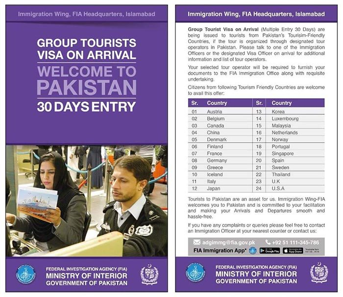 Visa allowed for group tourists
