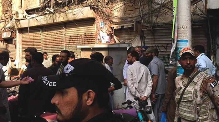 Case filed over grenade attack in Karachi's Kharadar