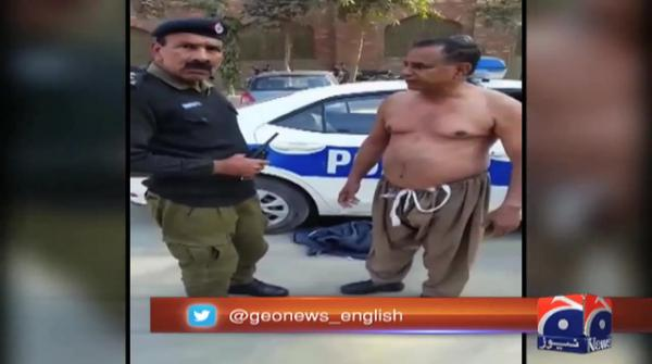 Lahore police force citizen to remove clothes