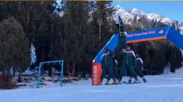 Skiing competition: Gliding down on snow in Naltar Valley