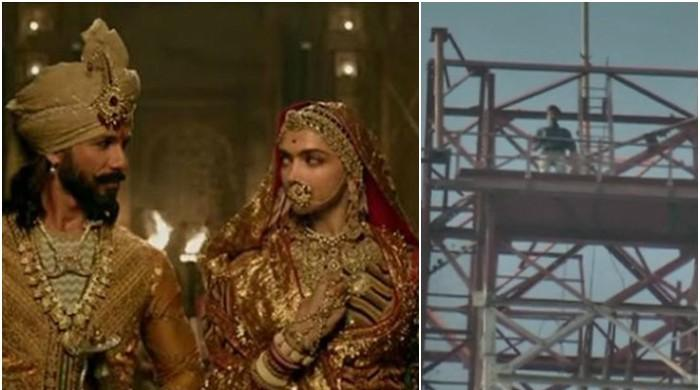 Padmaavat row: Rajasthan man climbs tower with petrol bottle demanding ban