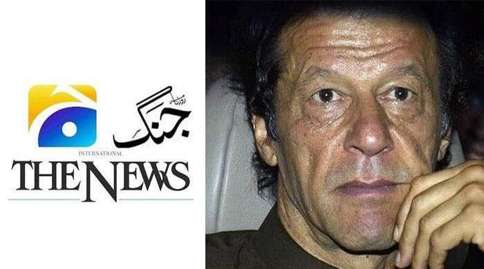 Jang/Geo group issues legal notice to Imran Khan over venomous campaign