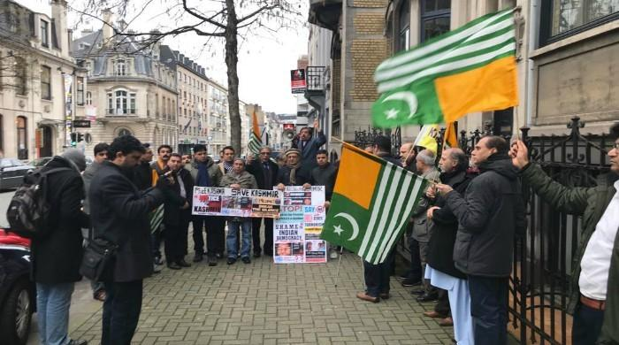 Kashmir Council demonstrates against India Republic Day in Brussels