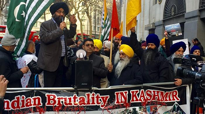 Indian authorities rattled by London Kashmiri, Sikh protest