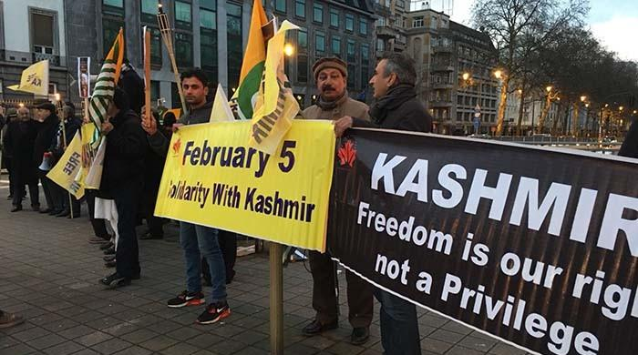 Solidarity with Kashmiris in Brussels