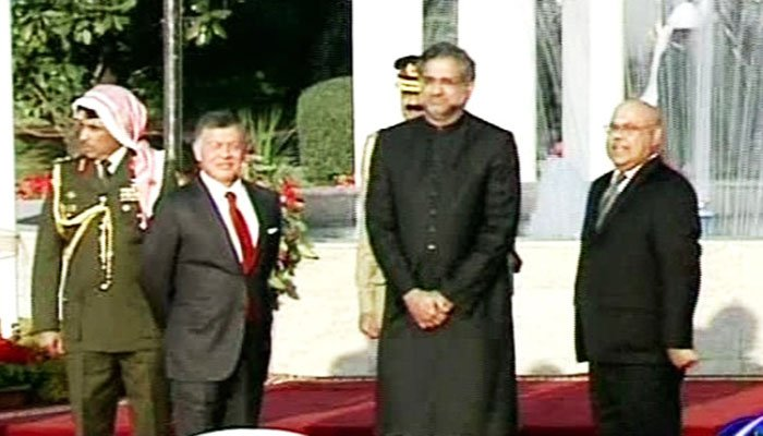 King Abdullah II of Jordan begins Pakistan visit