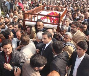 The final goodbye to Asma Jahangir