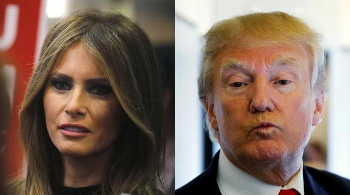 Melania shuns cameras as second woman alleges Trump affair
