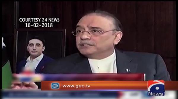 Zardari regrets 'brave child' remarks about Rao Anwar