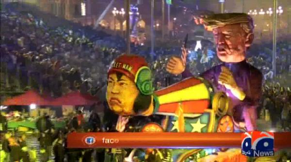 Special Report - #Massive Donald Trump, Kim Jong Un floats feature in carnival parade in Nice, France