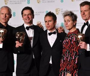 'Three Billboards' tops Baftas as 'Time's Up' campaign shares stage