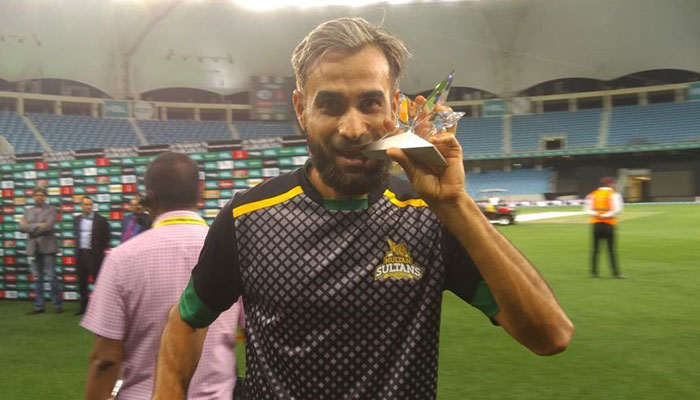 Imran Tahir bagged a hat-trick against Quetta Gladiators, and is holding on to his Fazal Mahmood cap for leading the wickets tally (11)