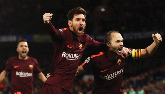Barcelona draw 1-1 with Chelsea