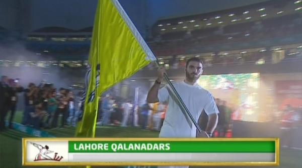 PSL teams entrance during opening ceremony