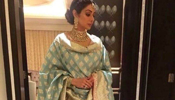 Sridevi pictured at at Mohit Marwah's wedding in Dubai
