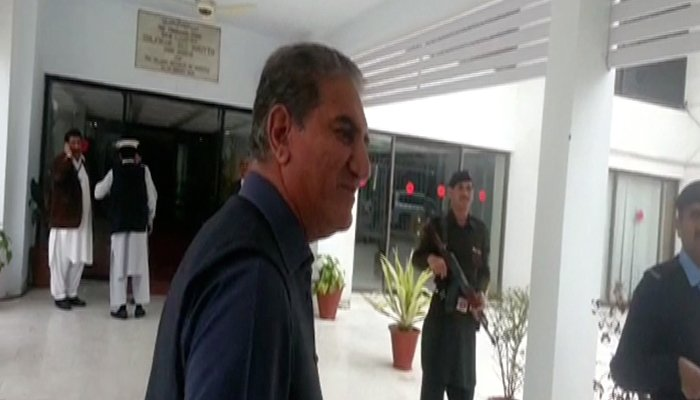 PTI leader Shah Mehmood Qureshi at the National Assembly