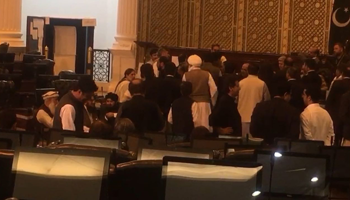 Voting for Senate election in Balochistan Assembly