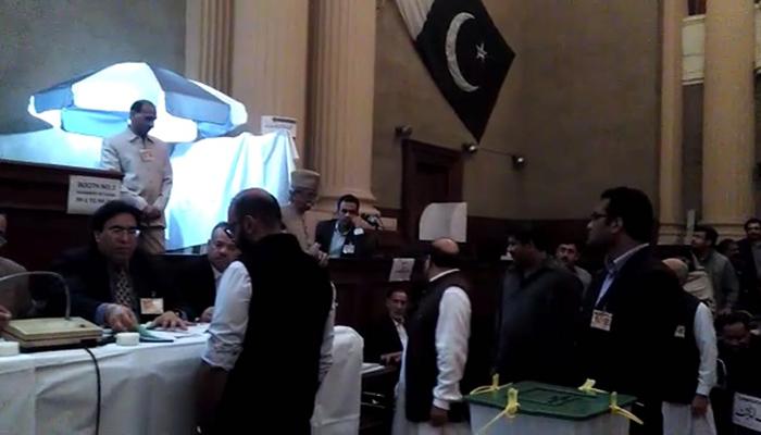 Punjab MPAs voting for Senate candidates