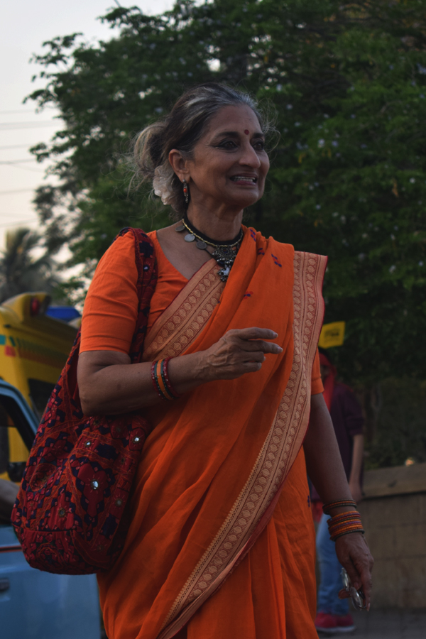 Sheema Kirmani, a social activist, theater director, and an exponent of Bharatnatyam dance, participates in the Aurat March 2018 held at Frere Hall, Karachi, Pakistan, March 8, 2018. Geo.tv/Author