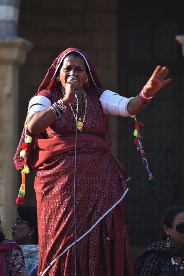 A woman speaks at the Aurat March 2018 held at Frere Hall, Karachi, Pakistan, March 8, 2018. Geo.tv/Author