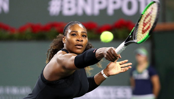 Serena back at Indian Wells