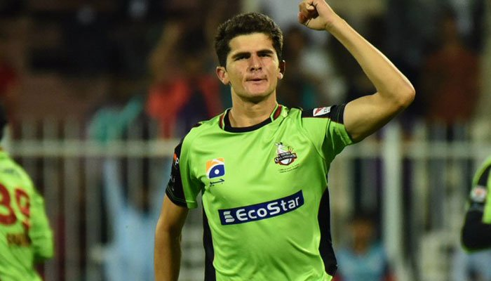 Shaheen Afridi managed to grab limelights in the PSL. (Geo. TV)