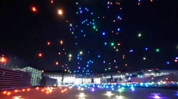 The Drones Light Show in China surprised the viewers