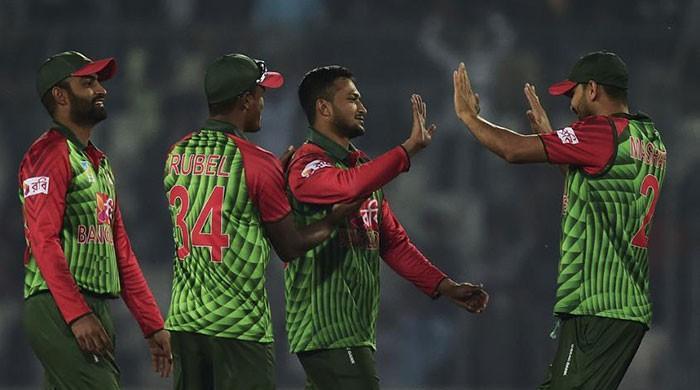 ICC fines Bangladesh's Shakib over bad behaviour in tri-series T20