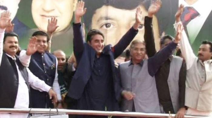 PPP Chairman Bilawal Bhutto Zardari in Kotli Sattian for party rally