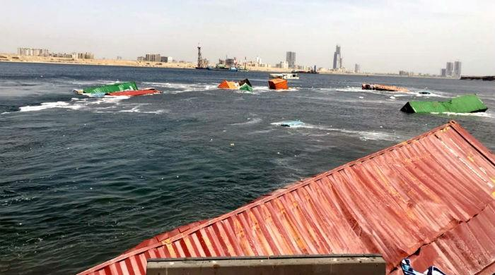 Ships' collision in Karachi: Floating containers yet to be recovered