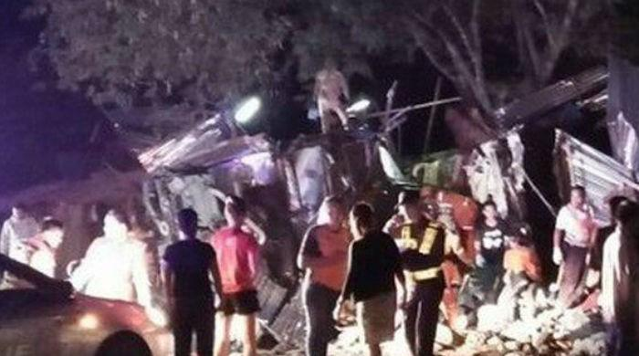 At least 17 killed in Thai bus crash