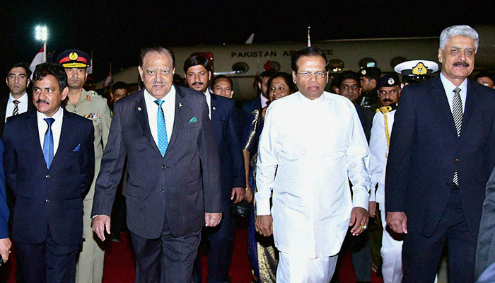 Sri Lankan President arrives in Pakistan